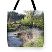 Tree Over The River Tote Bag