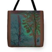 Tree Shadows At Midnight Tote Bag
