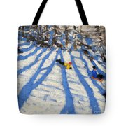 Tree Shadows Morzine Tote Bag