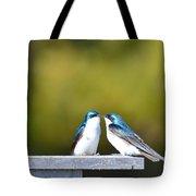 Tree Swallows  Tote Bag