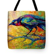 Tree Talk - Crow Tote Bag