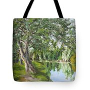 Tree Tops Park Tote Bag