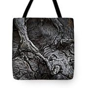Tree Trunk Abstract Tote Bag