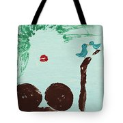 Tree With Blue Birds Tote Bag