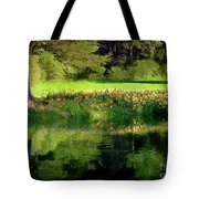Tree With Lily Reflections Tote Bag