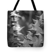 Tree With Spikes And Thorns Tote Bag