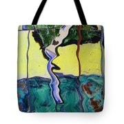 Tree With Yellow Sky Tote Bag