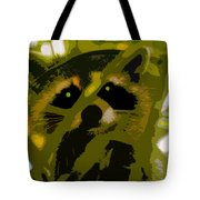 Treed Raccoon Tote Bag