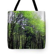 Trees Along The Umpqua River 2 Tote Bag