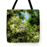 Trees And Flowers Hawaii Tote Bag