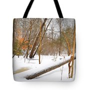Trees And Snow Tote Bag
