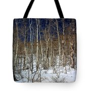 Trees And Something In The Snow Tote Bag
