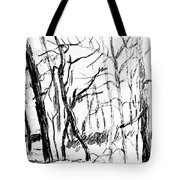Trees At My House Tote Bag