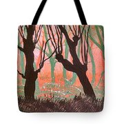 Trees At Sunset Tote Bag