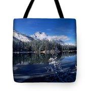 Trees At The Lakeside, Yellowstone Tote Bag