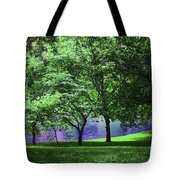 Trees By A Pond Tote Bag