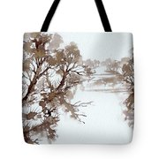Trees By A River Tote Bag
