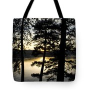 Trees By The Lake Tote Bag