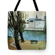 Trees By The River Tote Bag