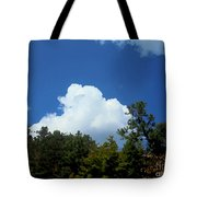 Trees, Clouds, And Sky Tote Bag