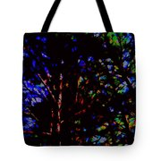 Trees In Abstract 3 Tote Bag