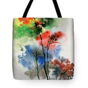 Trees In Colors Tote Bag