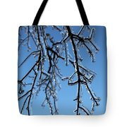 Trees In Ice Tote Bag