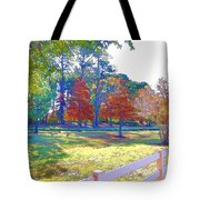 Trees In Park 1 Tote Bag