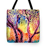 Trees In Summer Tote Bag