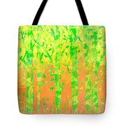 Trees In The Grass Tote Bag
