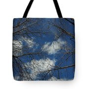 Trees In The Spring With Clouds Tote Bag