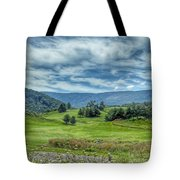 Trees In The Valley Tote Bag