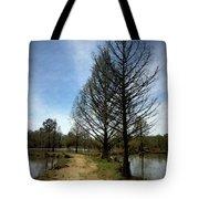 Trees In Water Garden Tote Bag