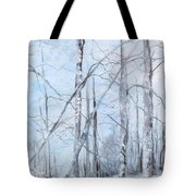 Trees In Winter Snow Tote Bag