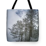Trees On A Hillside Tote Bag