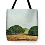 Trees On Field Tote Bag