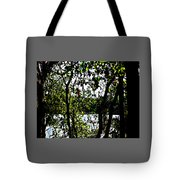 Trees Over Looking Water Tote Bag