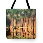 Trees Reflecting Tote Bag