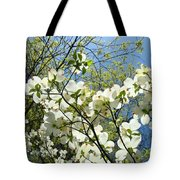 Trees Sunlit White Dogwood Art Print Botanical Baslee Troutman Tote Bag