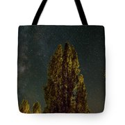 Trees Under The Milky Way On A Starry Night Tote Bag