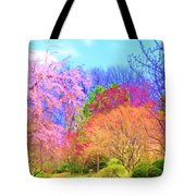 Trees With Color Tote Bag
