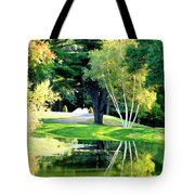 Trees With Mirror Lake 2 Tote Bag