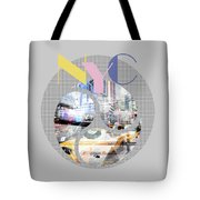 Trendy Design New York City Geometric Mix No 1 Tote Bag by Melanie Viola