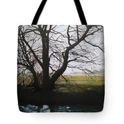 Trent Side Tree. Tote Bag