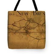 Trenton New Brunswick Turnpike 1800 Tote Bag