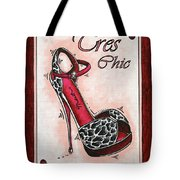 Tres Chic By Madart Tote Bag