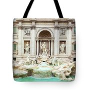 Trevi Fountain, Fontana Di Trevi, After The Restoration Of 2015  Tote Bag
