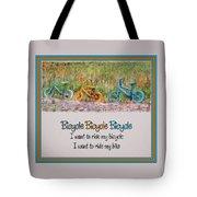 Tri Bike Bicycle Races Tote Bag