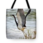Tri Colored Heron Takeoff Tote Bag