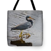Tri-colored Heron Wading In The Marsh Tote Bag